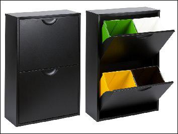 Reciclar en poco espacio y con estilo paperblog - Cubos para reciclar ...