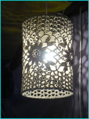 Tendencia deco l mparas de ganchillo paperblog - Como hacer lamparas de techo modernas ...