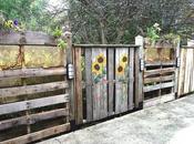valla jardín paléts