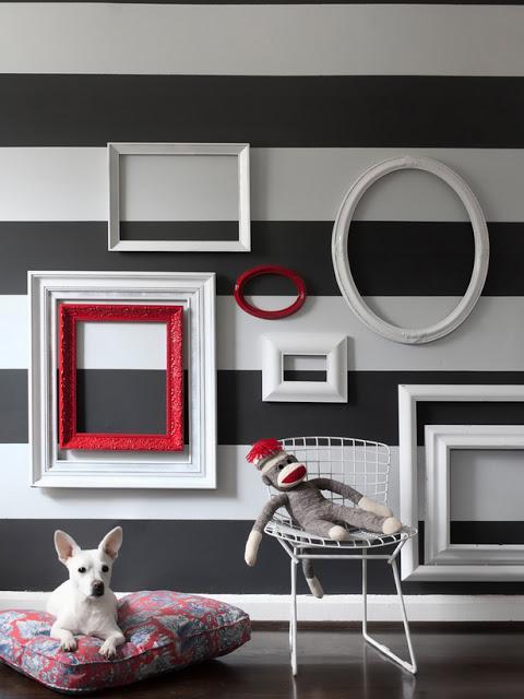 Decoracion con marcos sin fotos - Paperblog