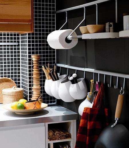 Accesorios de pared para organizar la cocina paperblog - Ikea utensilios cocina ...