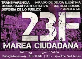 ¡Este 23F es nuestro!  Marea ciudadana