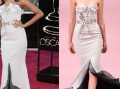 look para Saldana Alexis Mabille Alta Costura alfombra roja Oscars
