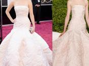 Jennifer Lawrence Dior Alta Costura Primavera/Verano 2013 alfombra roja Oscars