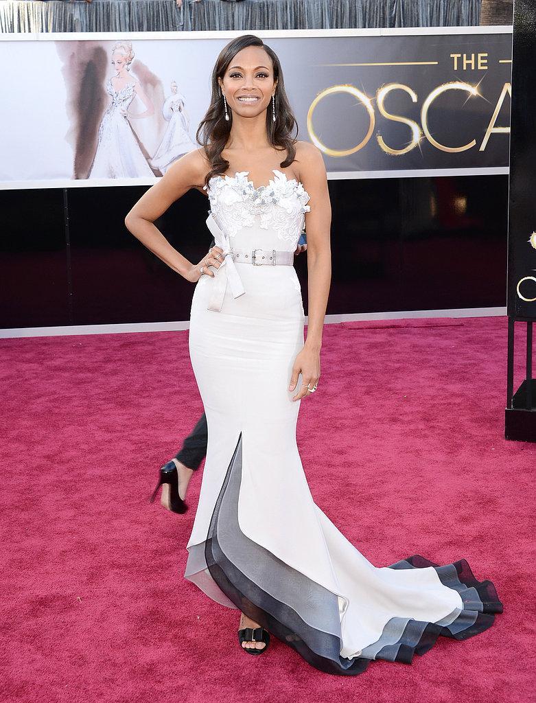 Zoe Saldana en un Alexis Mabille Oscars 2013: Los mejores looks en la alfombra roja de los Oscars 2013