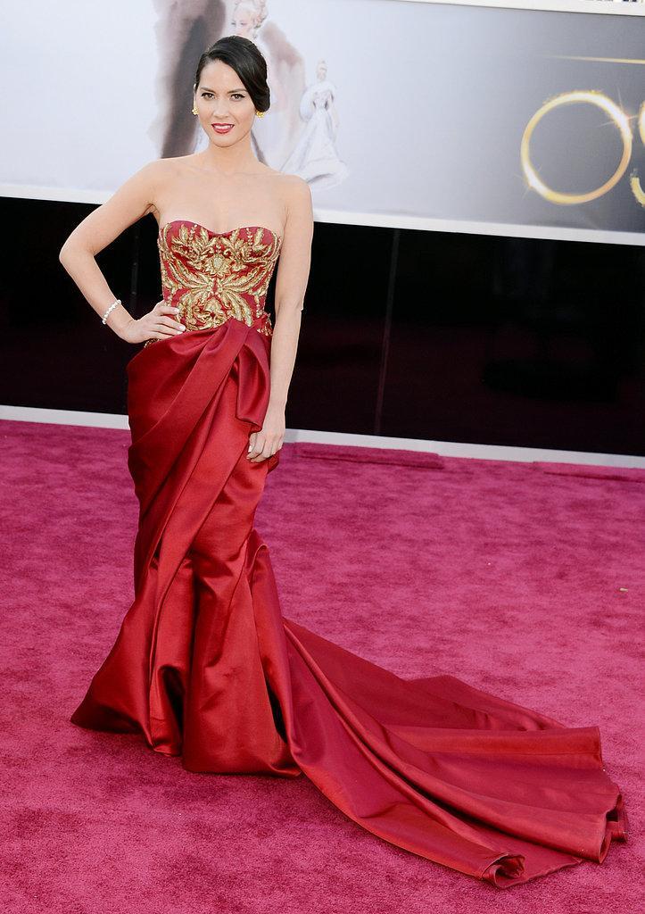 Olivia Munn en un Marchesa Oscars 2013: Los mejores looks en la alfombra roja de los Oscars 2013