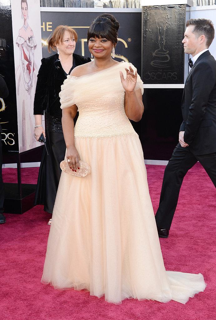 Octavia Spencer en Tadashi Shoji Oscars 2013: Los mejores looks en la alfombra roja de los Oscars 2013