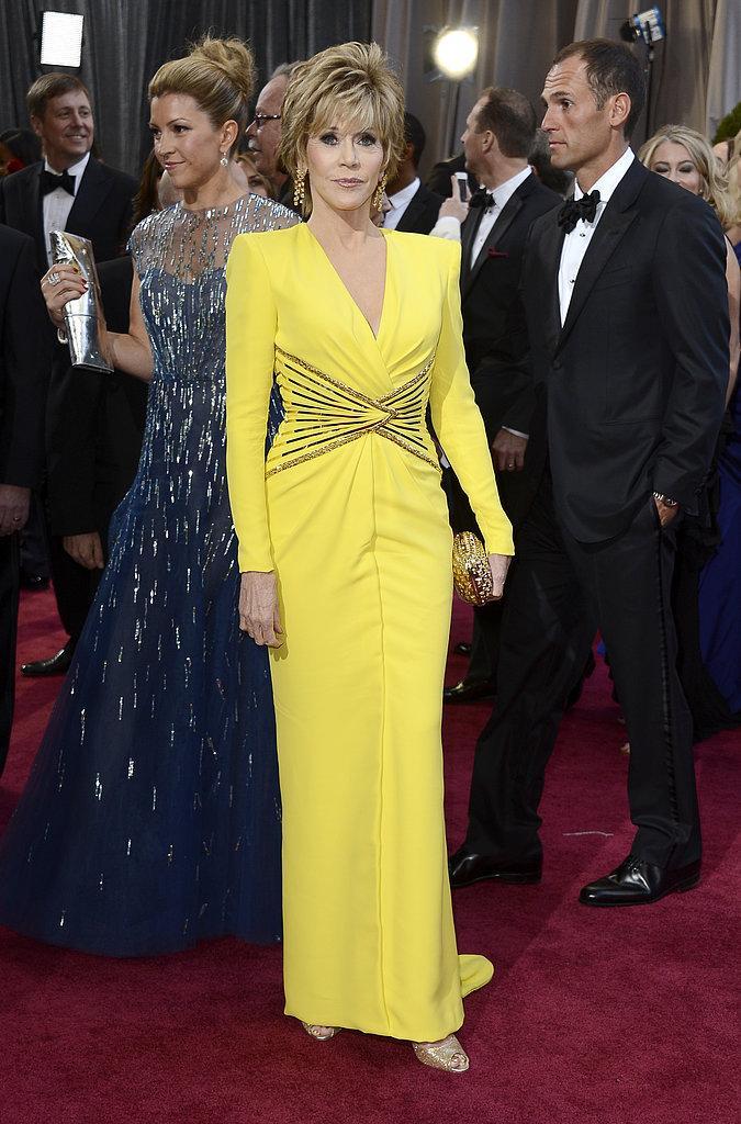 Jane Fonda Versace Oscars 2013: Los mejores looks en la alfombra roja de los Oscars 2013