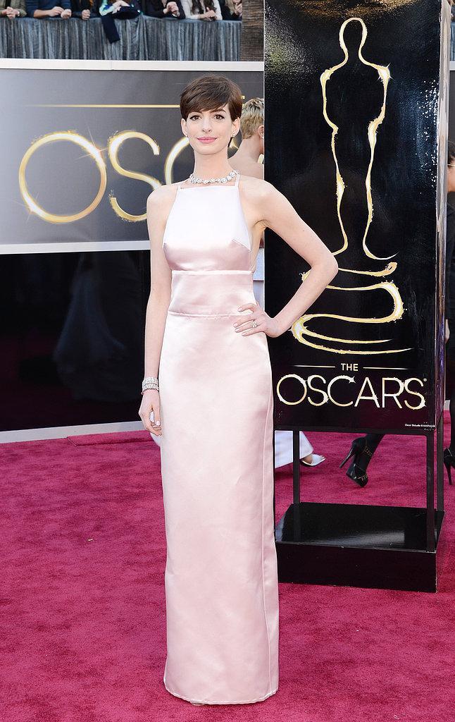 Anne Hathaway en prada Oscars 2013: Los mejores looks en la alfombra roja de los Oscars 2013