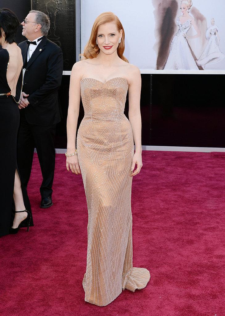 Jessica Chastain en Armani Oscars 2013: Los mejores looks en la alfombra roja de los Oscars 2013