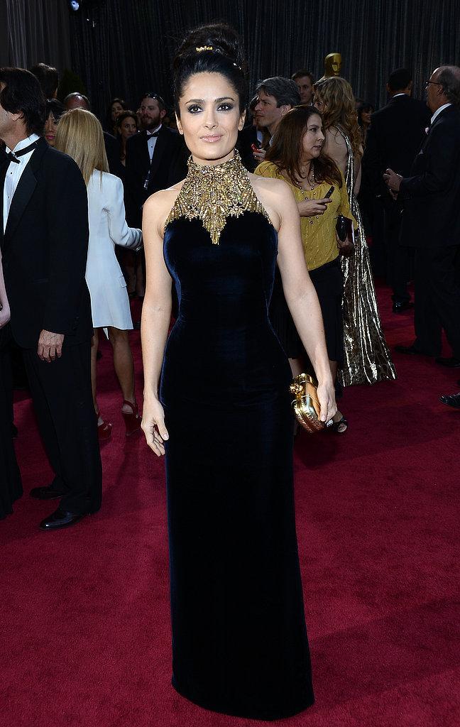 Salma Hayek Alexander McQueen Oscars 2013: Los mejores looks en la alfombra roja de los Oscars 2013
