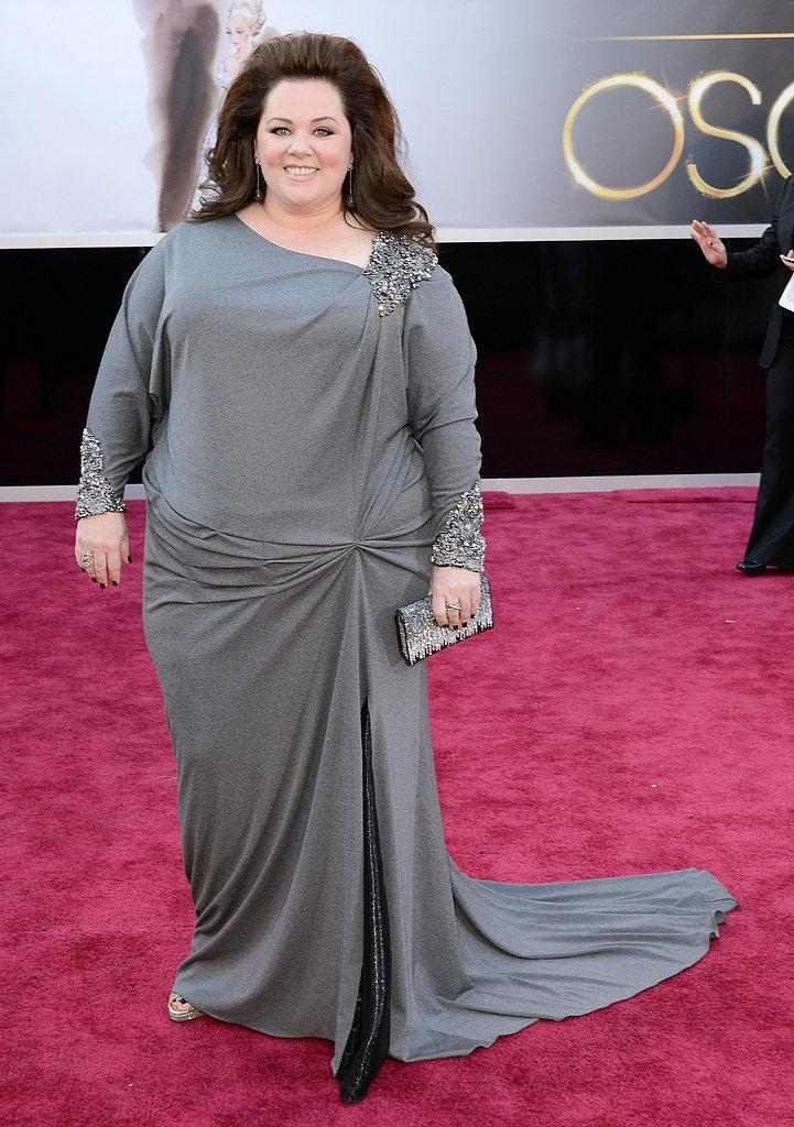 Melissa McCarthy en David Meister Oscars 2013: Los mejores looks en la alfombra roja de los Oscars 2013