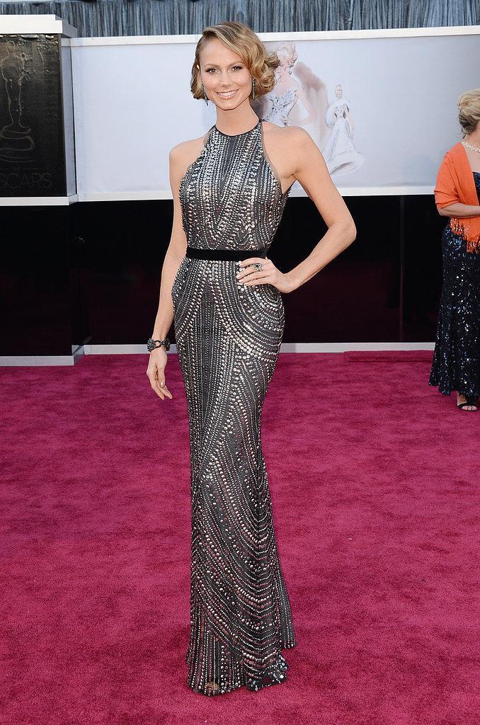 Stacy Keibler en un Naeem Khan Oscars 2013: Los mejores looks en la alfombra roja de los Oscars 2013