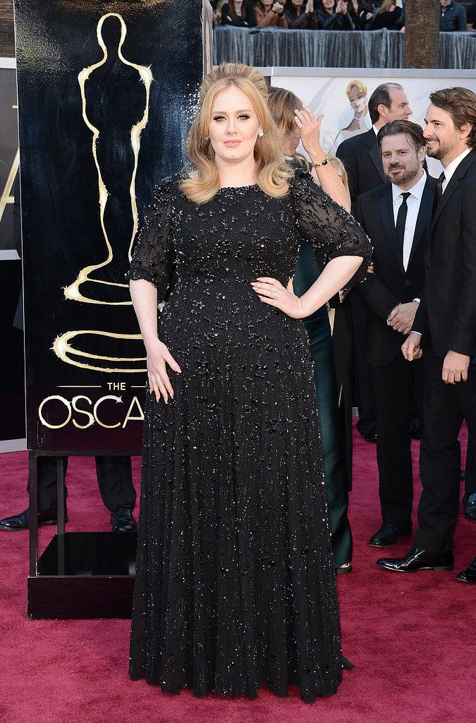 Adele en un Jenny Packham Oscars 2013: Los mejores looks en la alfombra roja de los Oscars 2013