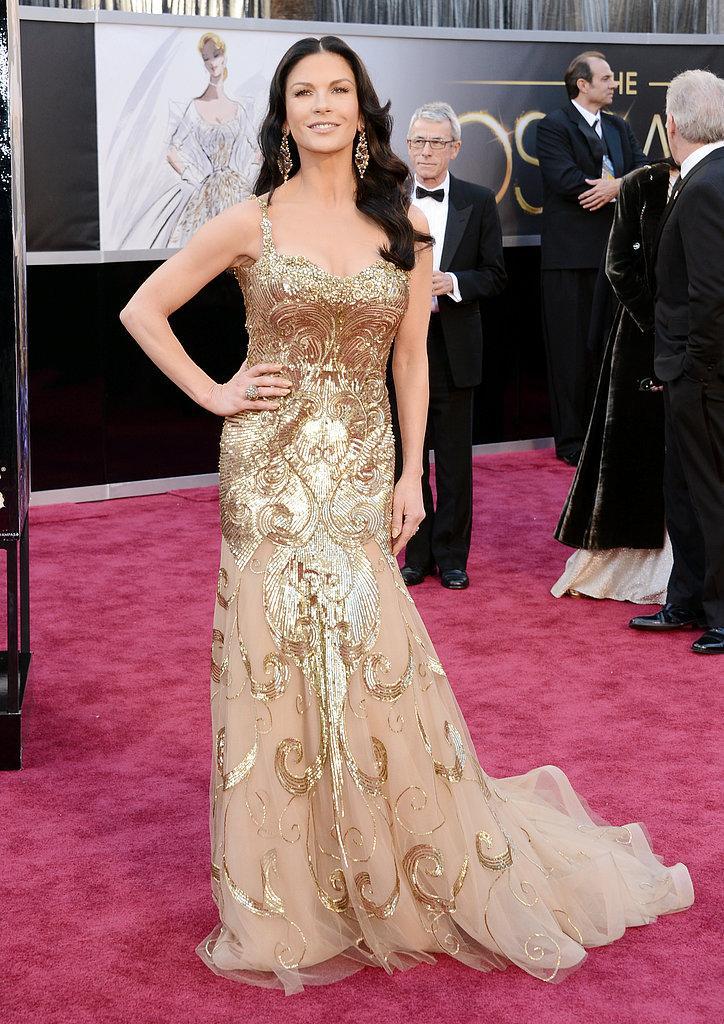 Catherine Zeta Jones en un Zuhair Murad Oscars 2013: Los mejores looks en la alfombra roja de los Oscars 2013