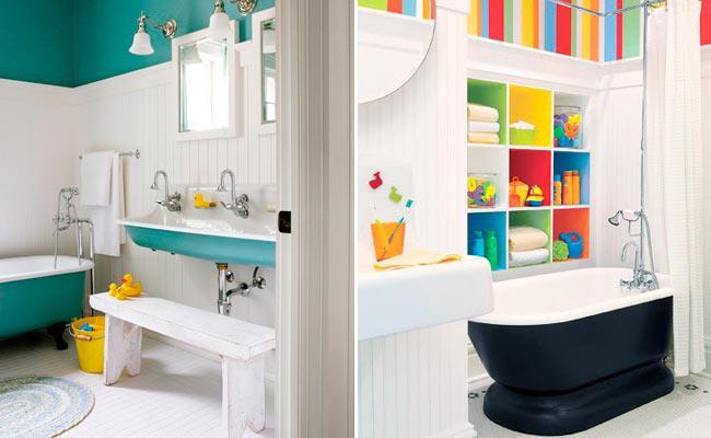 Juegos De Baños Decorados:baños niños baños para niños