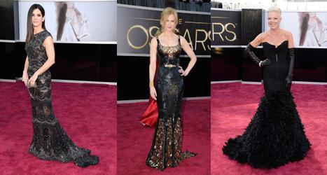 Vestidos Oscars 2013 (negro)