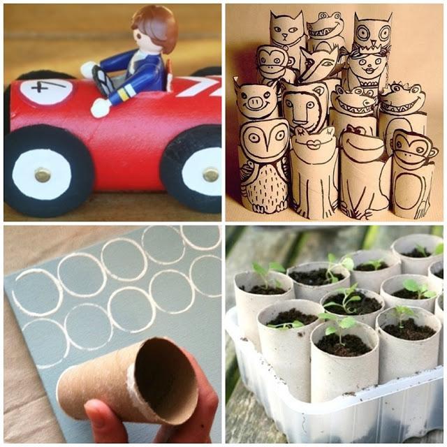 Manualidades y reciclaje No tires los rollos de cartn Paperblog