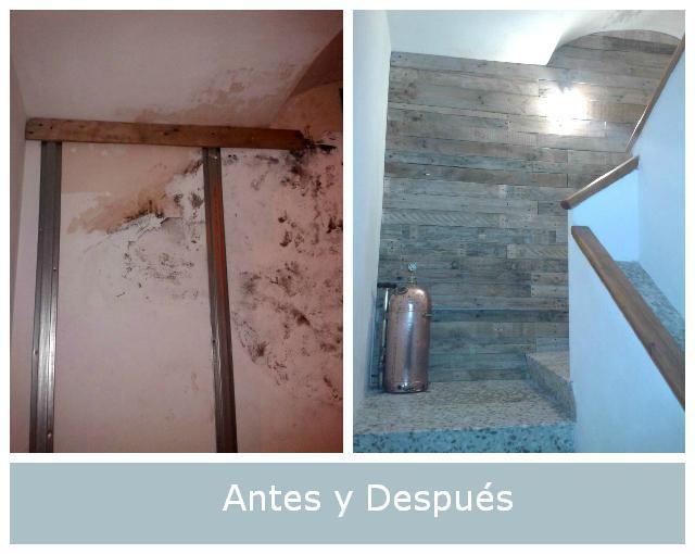 Antes y despu s la pared con humedad de jon paperblog - Humedad en la pared ...