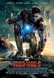 Cartel en español de Tony Stark en Iron Man 3