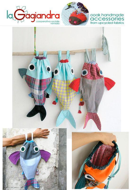 La gagiandra bolsas de tela paperblog - Bolsas de tela para ninos ...