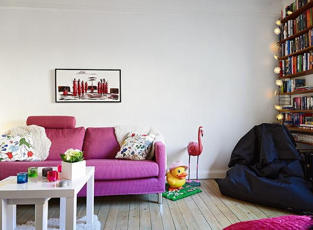Un apartamento n rdico en tonos fucsia love it paperblog for Decoracion piso hippie
