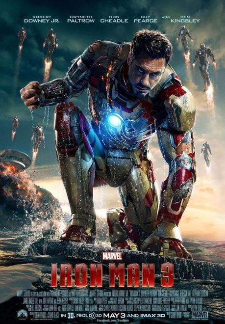 "Póster de ""Iron Man 3″ protagonizado por Robert Downey Jr."