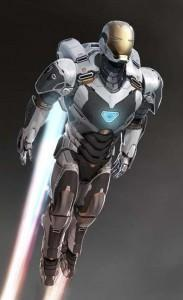 Diseño de Iron Man 3 con armadura espacial
