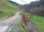 desprendimiento carretera Gaztelu