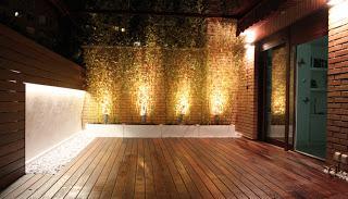 Un jard n en el tico con iluminaci n paperblog - Iluminacion terrazas exteriores ...