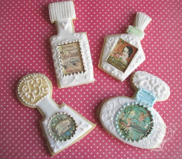GALLETAS DECORADAS CON PAPEL FONDANT-PERFUMES