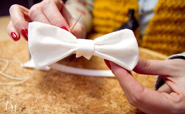 Como Hacer Un Lazo Para Una Diadema De Comunion Paperblog - Como-hacer-lazos-para-diademas