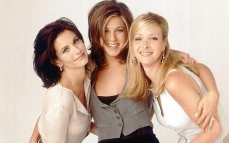 Friends chicas Jennifer Aniston, Courteney Cox, Lisa Kudrow