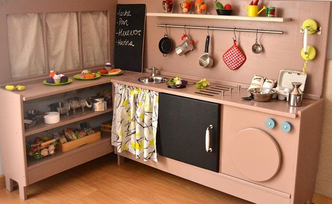 Decoracion mueble sofa cocinas de juguete de madera ikea for Cocina ninos juguete