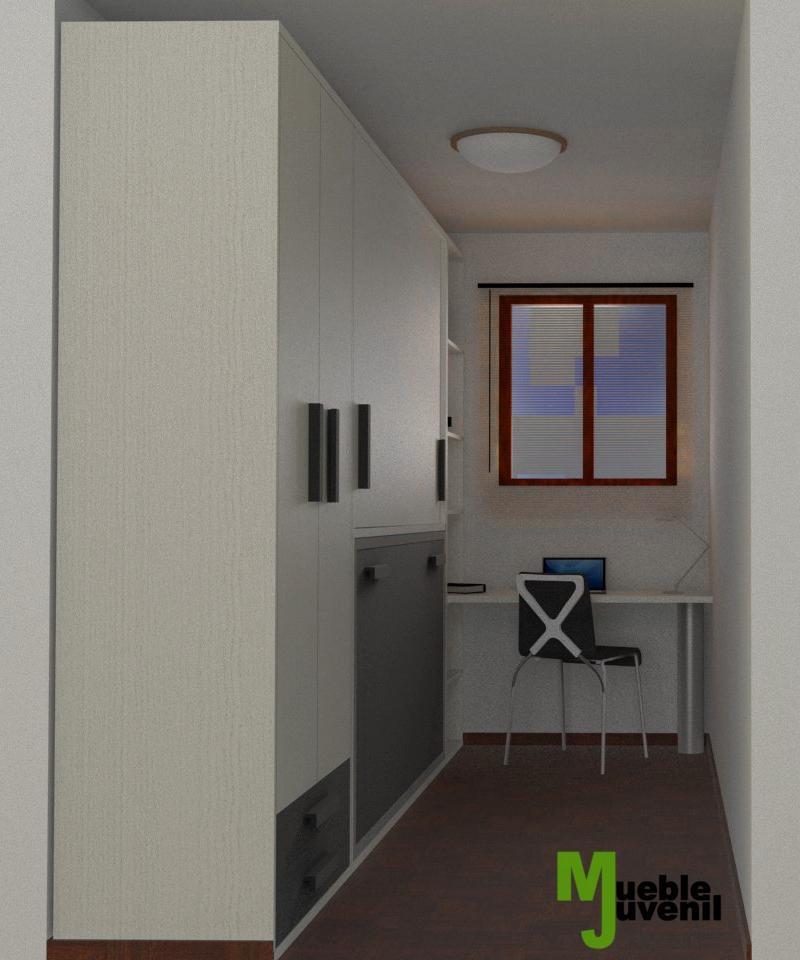 Dise o 3d soluci n para habitaci n juvenil con poco - Mueble juvenil diseno ...