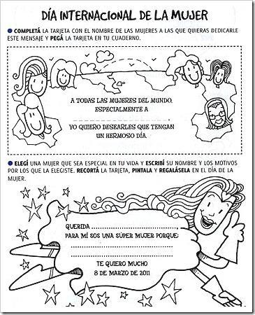 Fichas Día Internacional De La Mujer Paperblog
