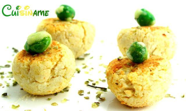 Canap s f ciles receta de canap s de queso y wasabi for Canapes recetas faciles y economicas