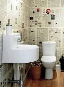 El papel pintado en ba os y aseos paperblog - Papel pintado para bano ...