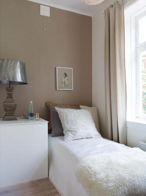 Un piso para adaptar a casas reales paperblog for Pintura color canela