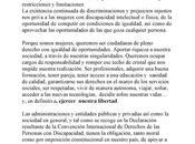 Manifiesto Marzo, internacinal mujer, ADISCIV