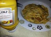 Espaguetis calabacin salsa curry mango Heinz