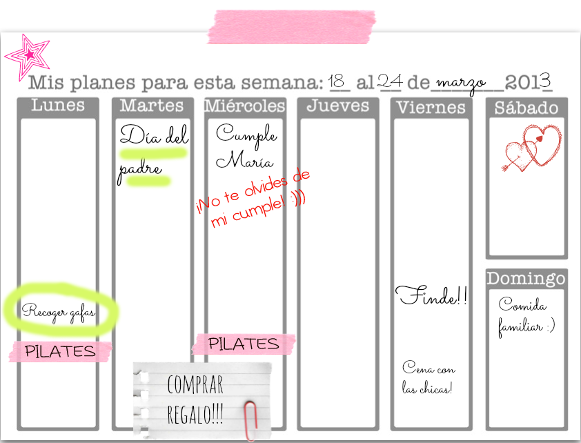 Imprimible gratis planificador semanal paperblog for Plantillas mr wonderful
