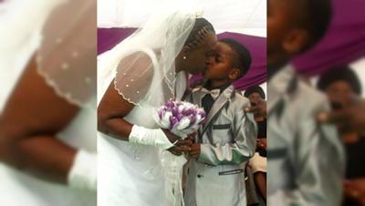 Niño de ocho años se casa con una