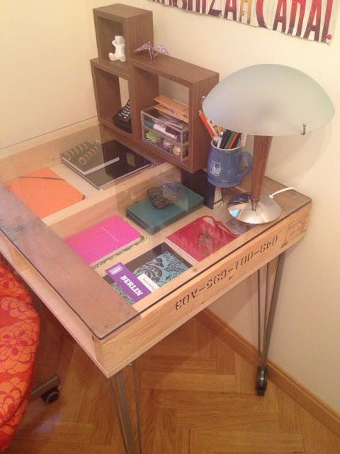 Diy c mo hacer una mesa de estudio industrial con un for Como hacer una mesa estilo industrial