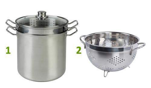 C mo cocinar al vapor con una olla y un colador paperblog for Cocinar almejas al vapor