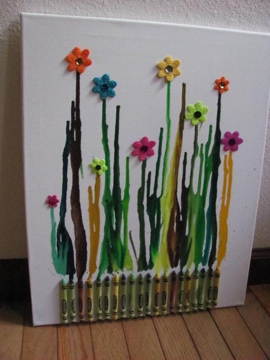 Cuadros con pinturas Crayolas - Paperblog