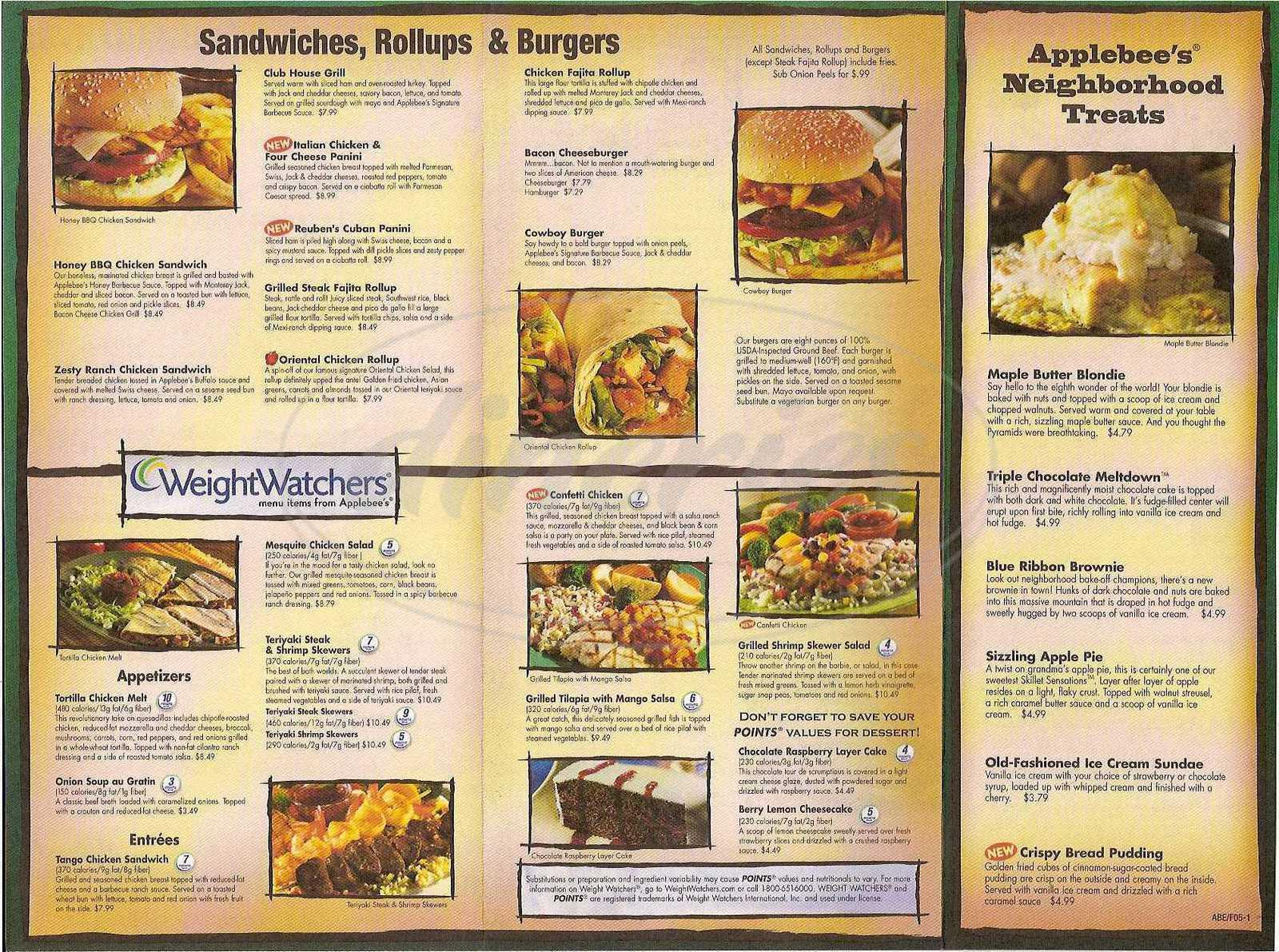 photo relating to Printable Chili's Menu identify Applebees in direction of move menu printable / Walmart canvas wall artwork