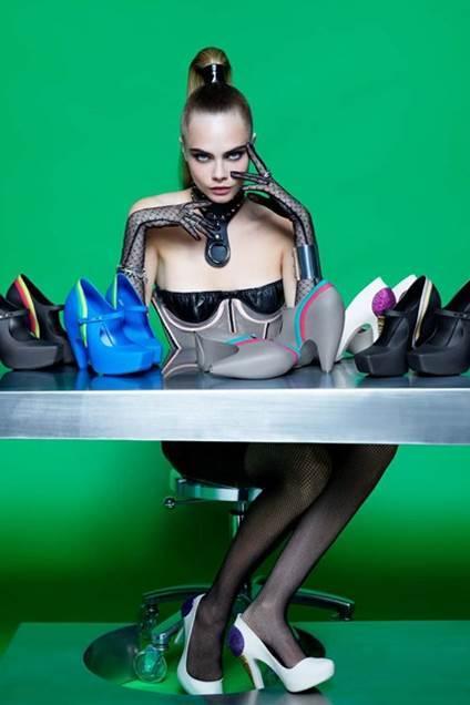 Plastic Dreams,Cara Delevingne by Karl Lagerfeld