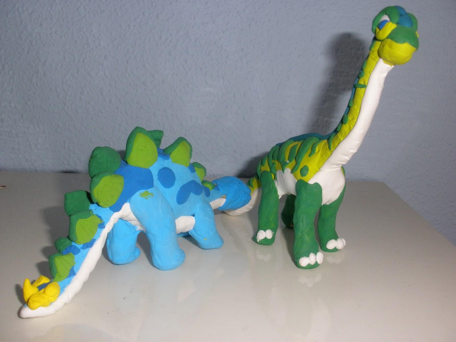 Dinosaurios de plastilina - Paperblog