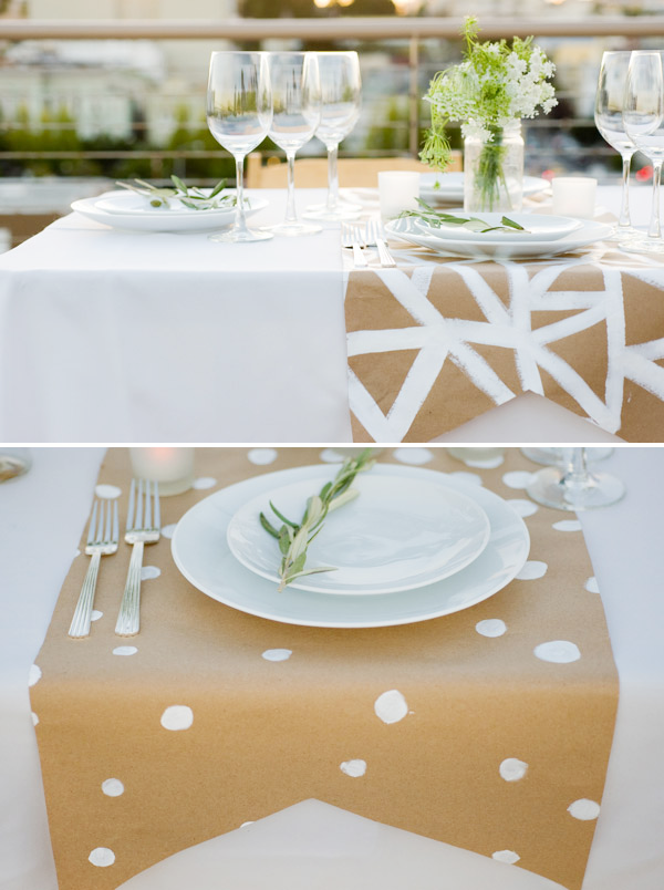 Decora tu mesa con papel kraft paperblog - Ideas para hacer manteles ...